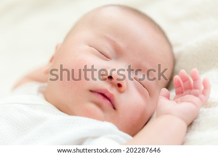 Asian baby son sleep