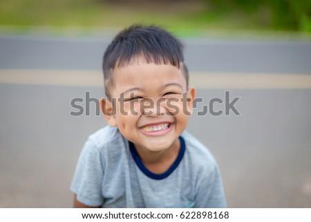 fun Asian face