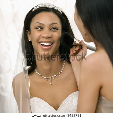 Applying Your Own Wedding Makeup : African American Bride Stock Photos, Images, and Pictures ...