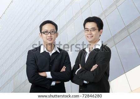 asian business men - stock photo