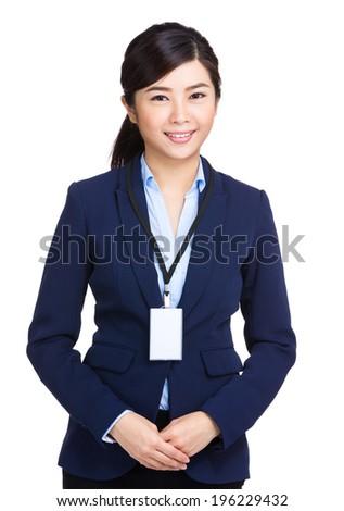 Asian business woman - stock photo
