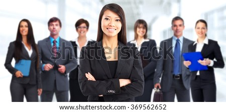 Asian business woman. - stock photo