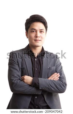 Asian businessman. - stock photo