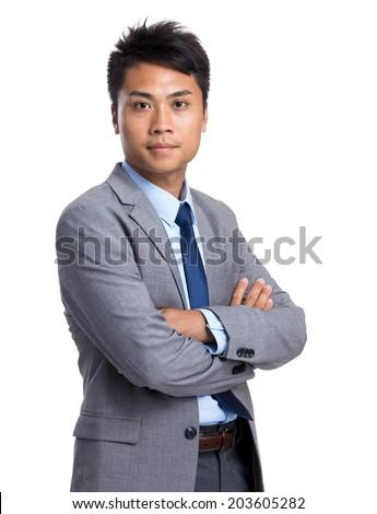 Asian businessman portrait - stock photo