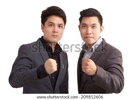 Asian businessmen friend. - stock photo