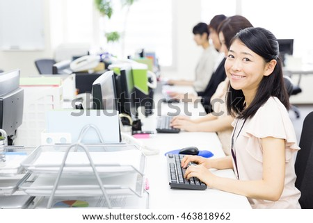 asian businessteam working in the office