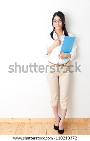 asian businesswoman relaxing - stock photo