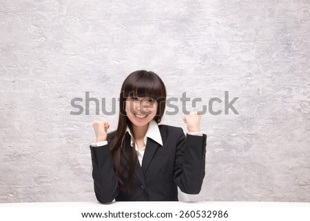 asian businesswoman showing positive attitude - stock photo