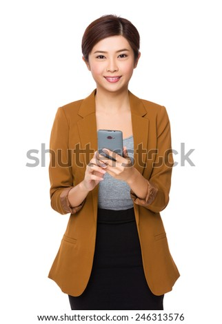Asian Businesswoman use of cellphone