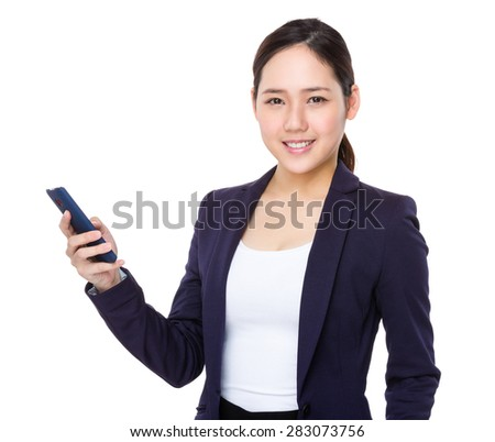 Asian businesswoman use of mobile phone