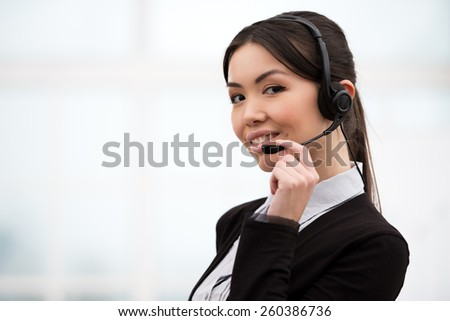 Happy African American Call Center Operator Stock Photo 125244695 ...