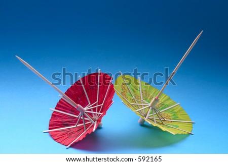 Asian cocktail umbrellas #4 - stock photo