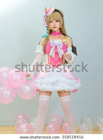 asian cosplayer girl japanese style - stock photo