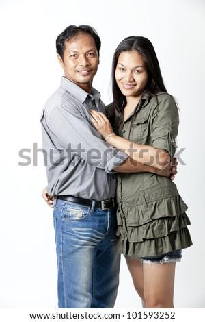 Asian couple - stock photo