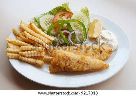 Fish dish fish fillet vegetables stock photo 593047220 for Asian and western cuisine