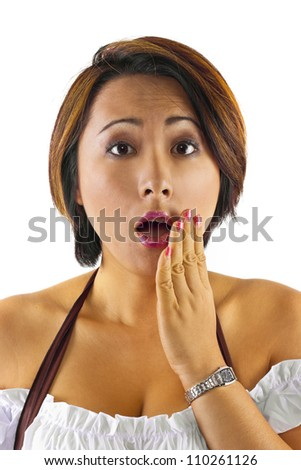 Asian facial expressions - stock photo