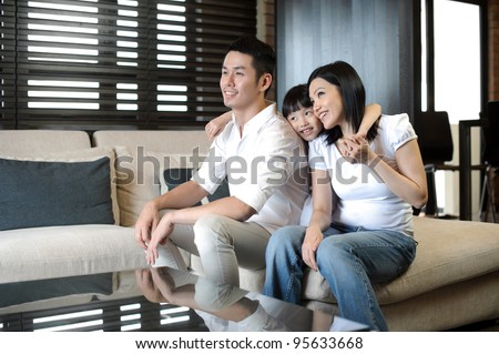Asian Family Lifestyle - stock photo