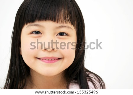 Asian Girl's portrait - stock photo