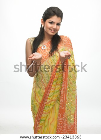 Asian girl with carrying expression - stock photo