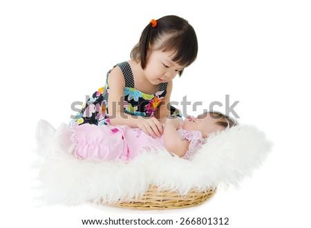 Asian kids - stock photo