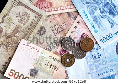 Asian money. - stock photo