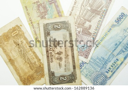 Asian money banknote