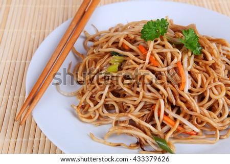 asian noodles - stock photo