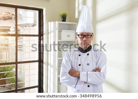 asian senior chef
