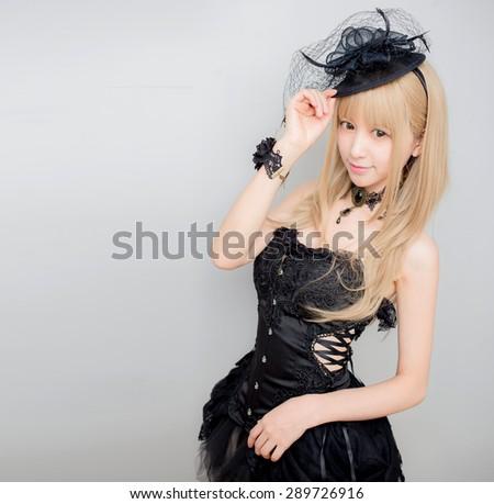 asian sexy fashion girl lady  korean style - stock photo