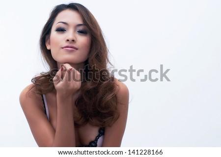 Asian sexy girl - stock photo