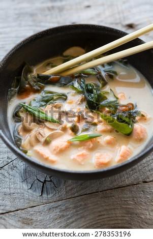 Asian soup - stock photo