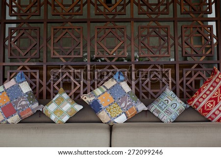 Asian-styled home interior. - stock photo