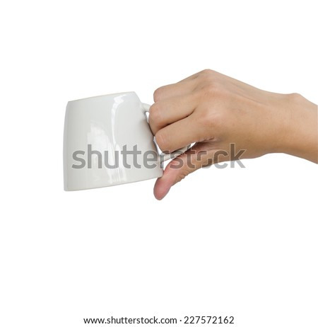 Asian teen hand holding a cup of coffee.