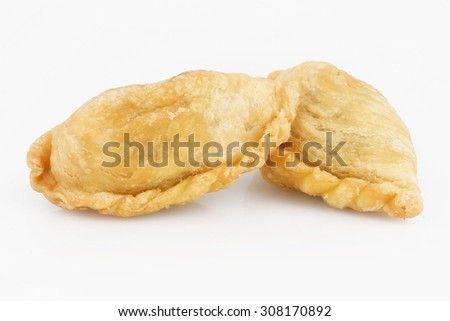 Asian traditional dessert or snack isolated on white background - stock photo