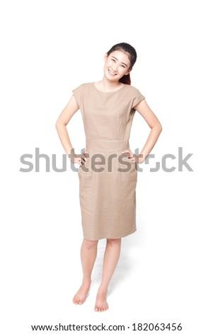 Asian woman happy. - stock photo
