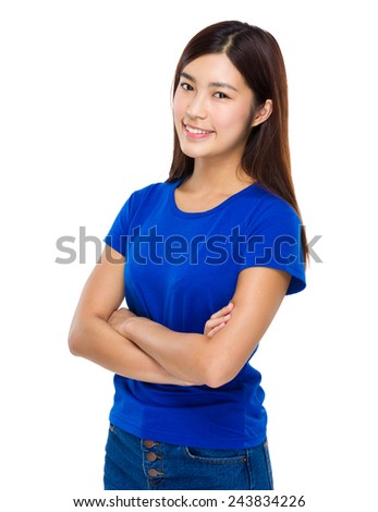 Asian Woman portrait - stock photo