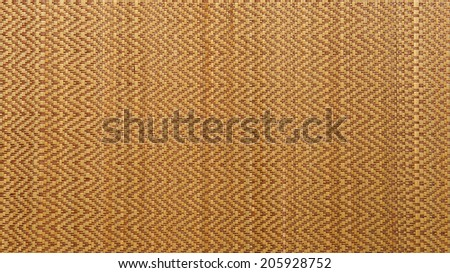 Asian woven wood or rattan mat texture background  - stock photo