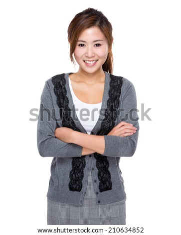 Asian young business assistant - stock photo