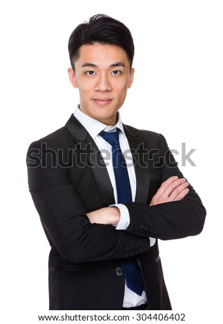 Asian Young Businessman - stock photo