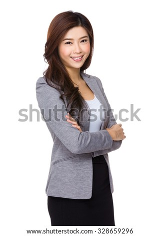 Asian Young Businesswoman - stock photo
