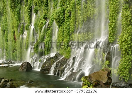 Asik-Asik Falls in Alamada, North Cotabato, Mindanao, Philippines. - stock photo