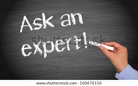 Ask an expert ! - stock photo
