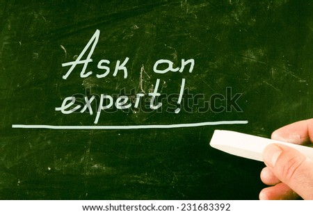 ask an expert - stock photo