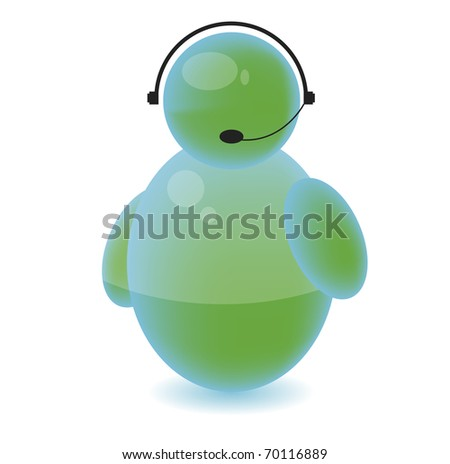 Ask for help icon assistant on the phone - stock photo