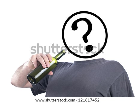 ask yourself about alcohol - stock photo