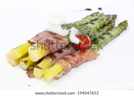 asparagus and bacon grilled
