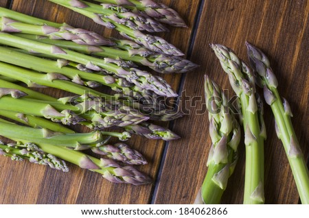 Asparagus bunch in close up image