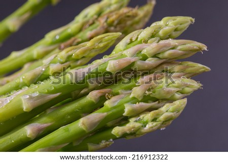 Asparagus group of green healthy vegetables - stock photo