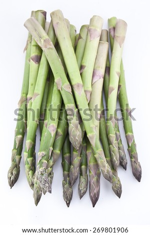Asparagus isolated on a white background. - stock photo