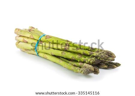 Asparagus isolated on white background - stock photo